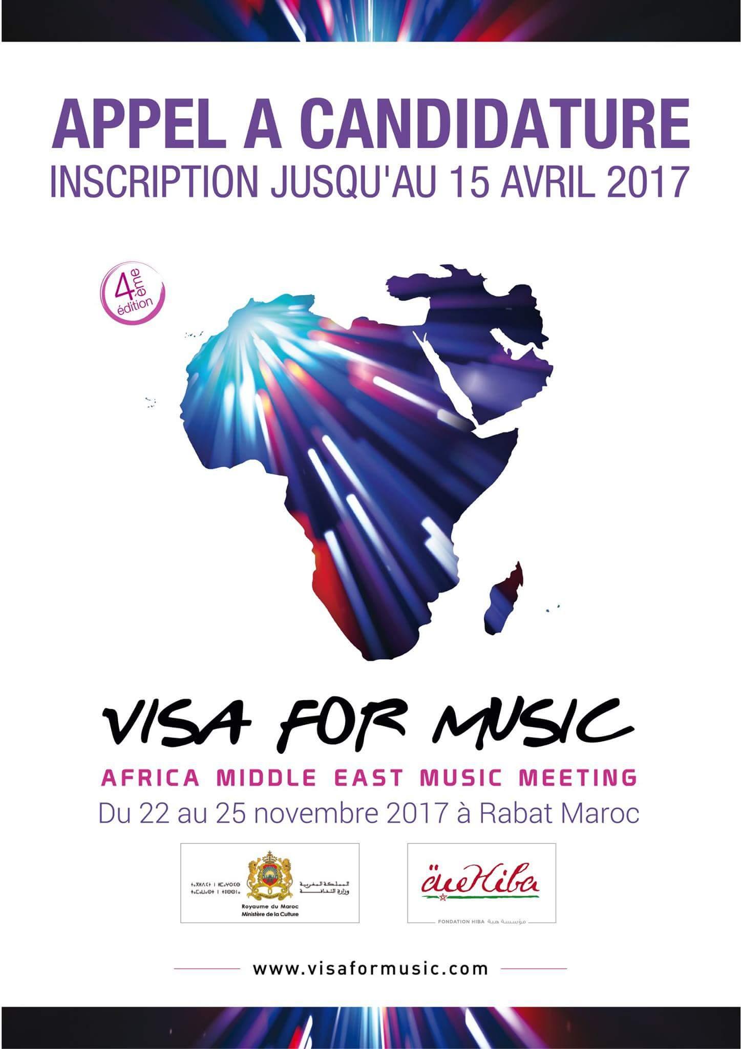 Read more about the article Visa For Music 2017 : l'appel a candidatures ouvert jusqu'au 15 avril.