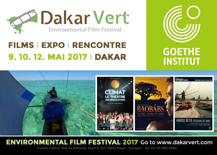 "You are currently viewing Festival du film environnemental ""Dakar Vert "" : 9, 10 et 12 mai 2017."
