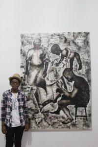 Read more about the article 5e édition de la Biennale de Lubumbashi: Géraldine TOBE vue par Babacar Mbaye DIOP