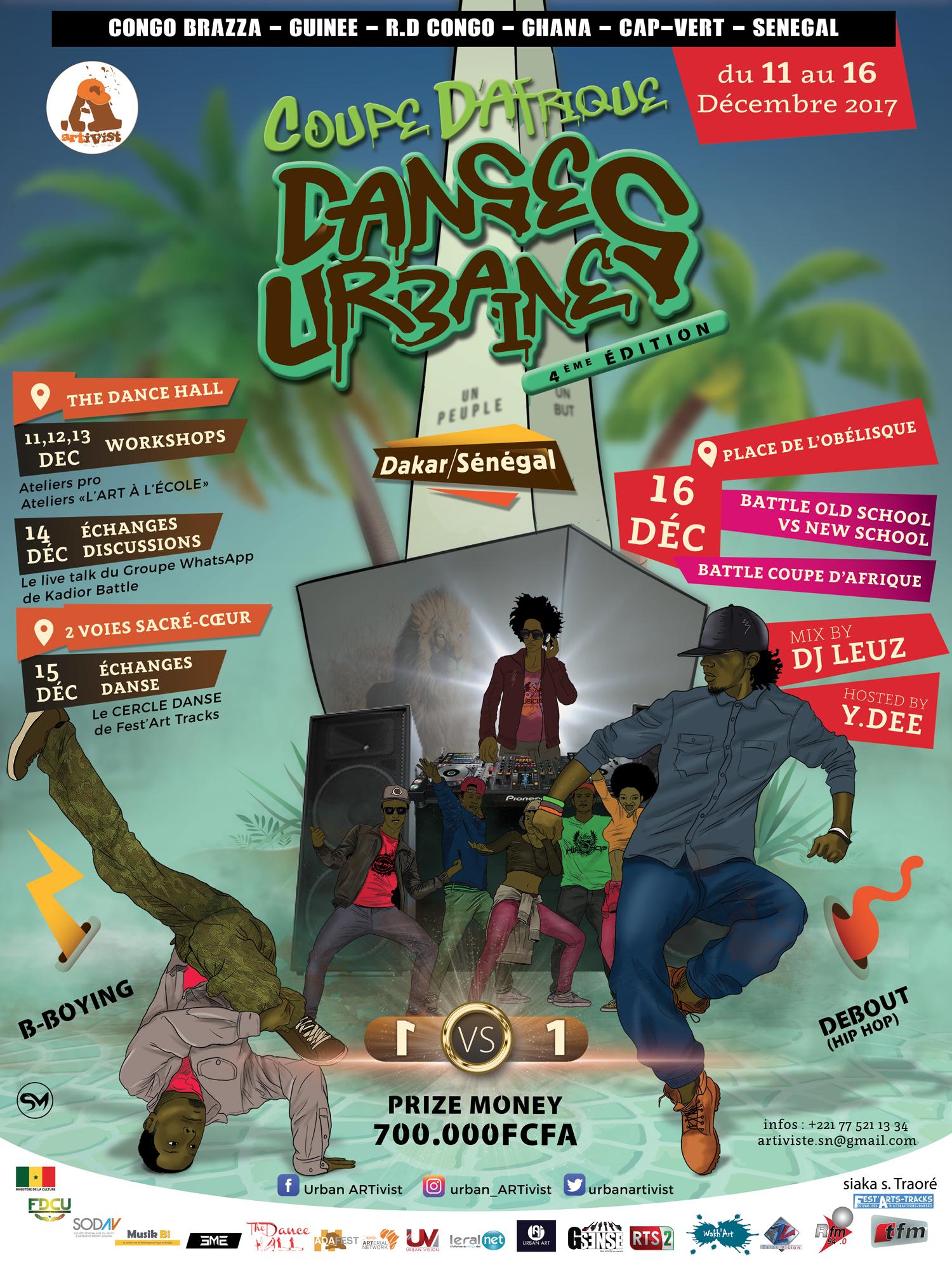Read more about the article 4e édition Coupe d'Afrique de Danses Urbaines