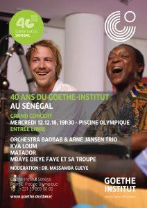 Read more about the article 40 ans de Goethe-Institut au Sénégal : L'Orchestra Baobab et Arne Jansen Trio en vedette